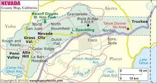 Nevada County Map